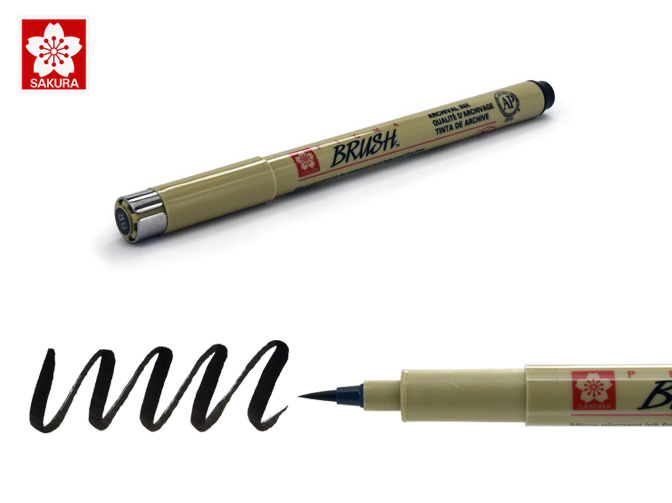 Brush Pens For Lettering Sakura 38081 Pigma