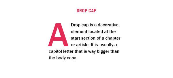 What Is Typography Drop Cap