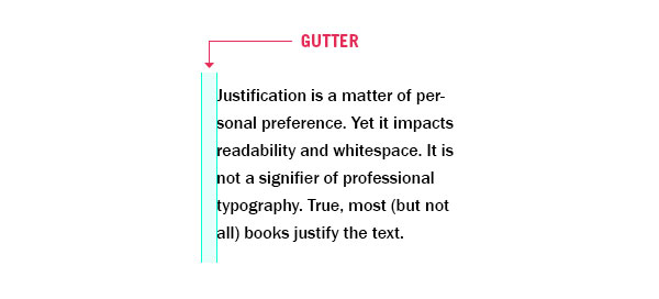 What Is Typography Gutter