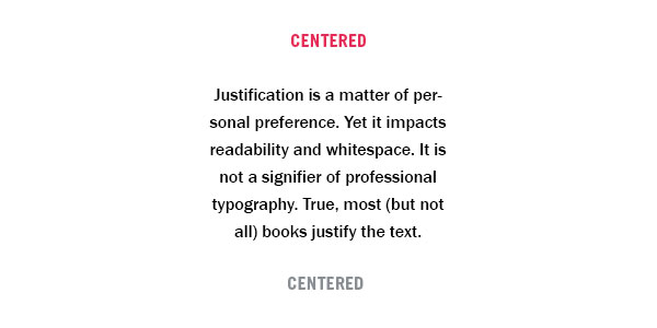 What Is Typography Justification Center