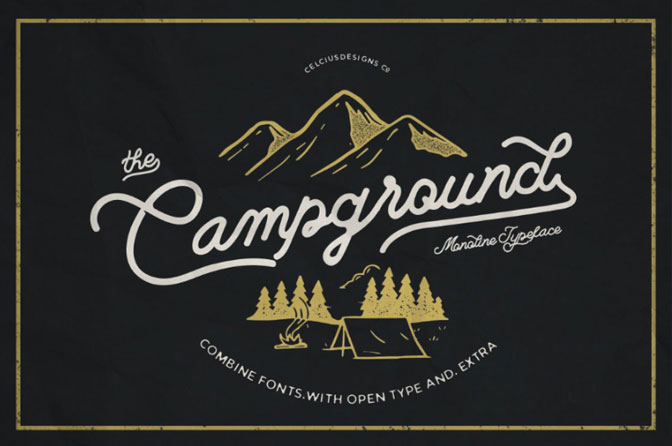 Free Fonts For Commercial Use Campground