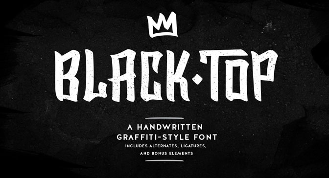 Free Grafitti Fonts Black Top