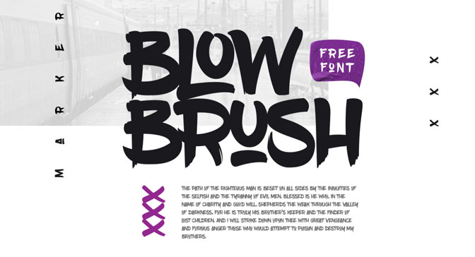 Free Grafitti Fonts Blow Brush