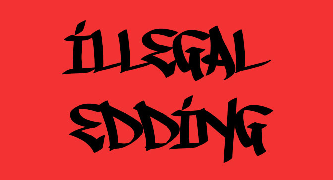 Free Grafitti Fonts Illegal Edding