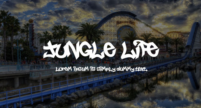 Free Grafitti Fonts Jungle Life
