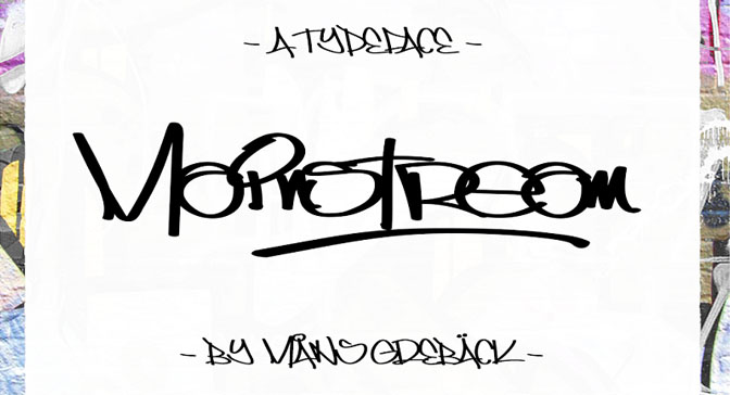 Free Grafitti Fonts Mainstream
