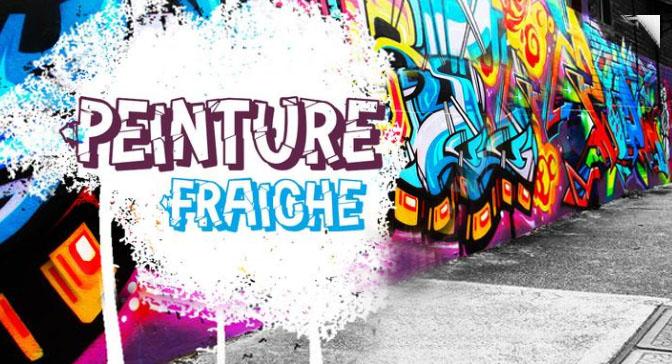 Free Grafitti Fonts Peinture Fraiche