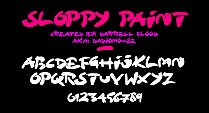 Free Grafitti Fonts Sloppy Paint