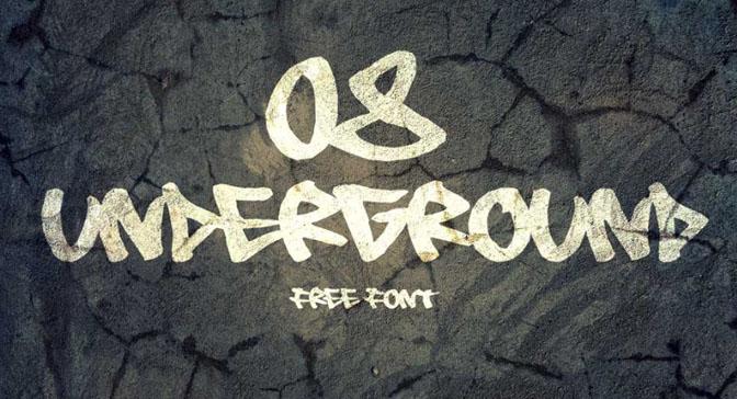 Free Grafitti Fonts 08 Underground
