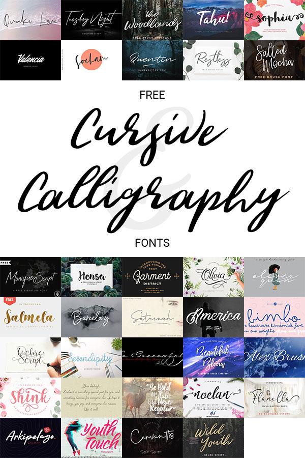 Free-Cursive-Calligraphy-Fonts