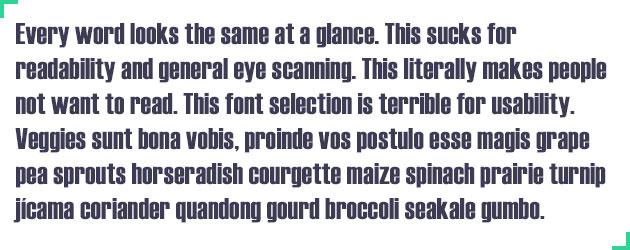 Best Fonts For UI Design - Hard To Read Fonts