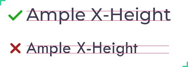 Good UI Font Characteristics - X-Height