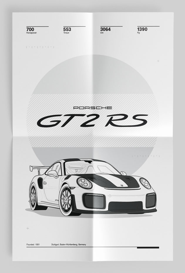 Lightest Sports Cars Poster 911 GT3 RS