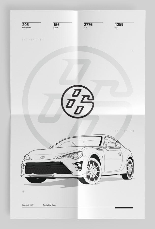 Lightest Sports Car Toyota 86