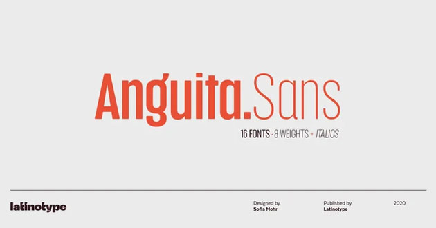 Best Display Fonts Anguita Sans