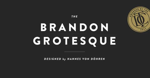 Best Display Fonts Brandon