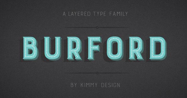 Best Display Fonts Burford