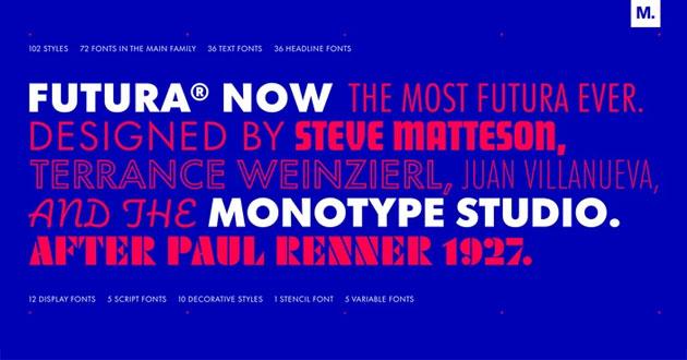 Best Display Fonts Futura Now