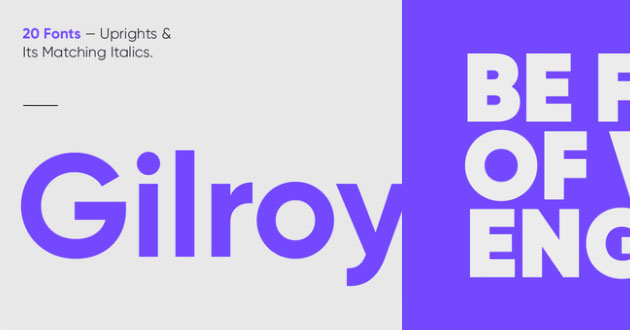 Best Display Fonts Gilroy