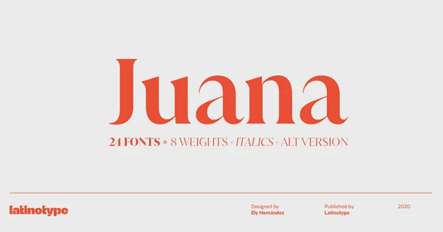 Best Display Fonts Juana