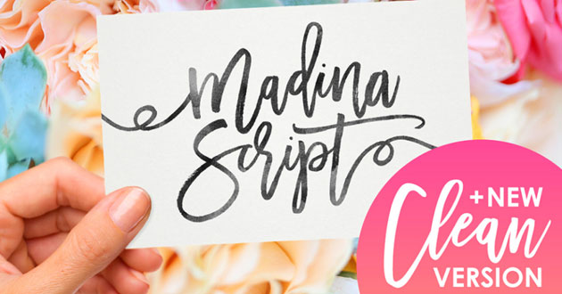 Best Display Fonts Madina Script
