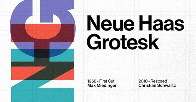 Best Display Fonts Neue Haas Grotesk