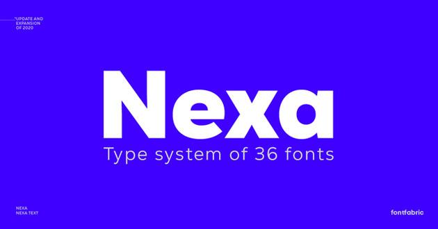 Best Display Fonts Nexa
