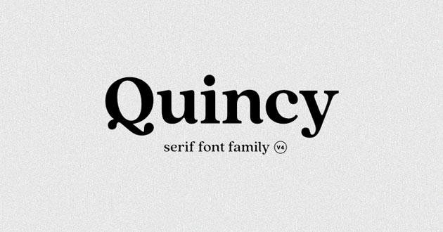 Best Display Fonts Quincy