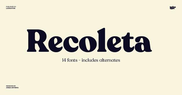 Best Display Fonts Recoleta