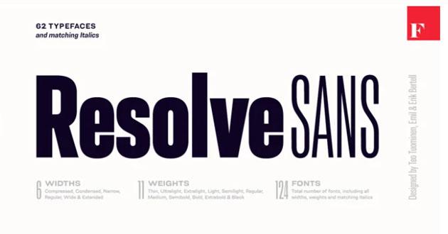 Best Display Fonts Resolve Sans