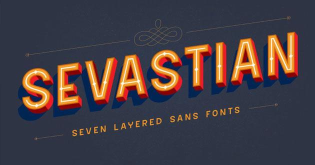 Best Display Fonts Sevastian