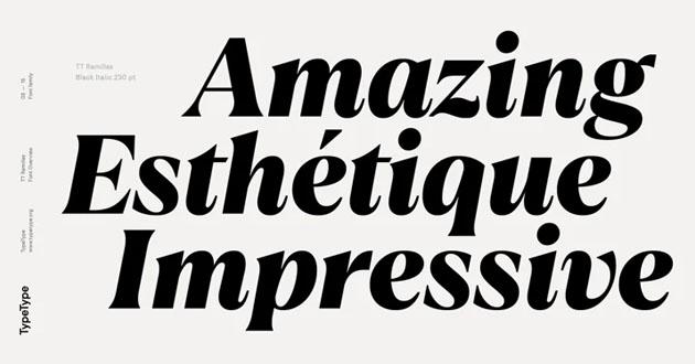 Best Display Fonts TT Ramillas