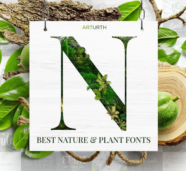 Nature And Plant Fonts
