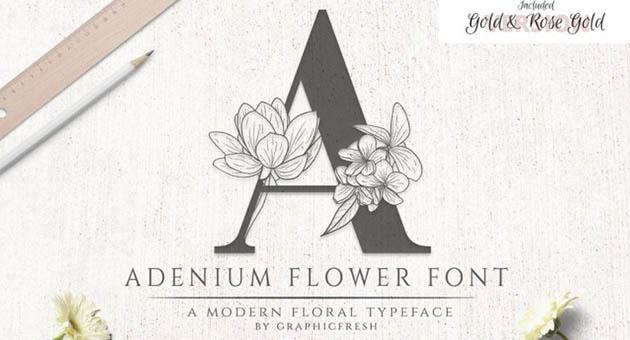 Nature And Plant Fonts Adenium