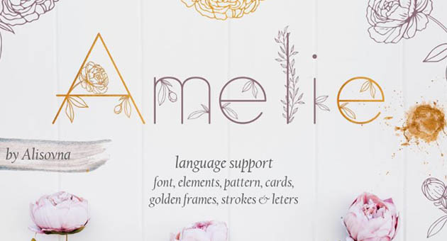 Nature And Plant Fonts Amelie