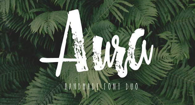 Nature And Plant Fonts Aura