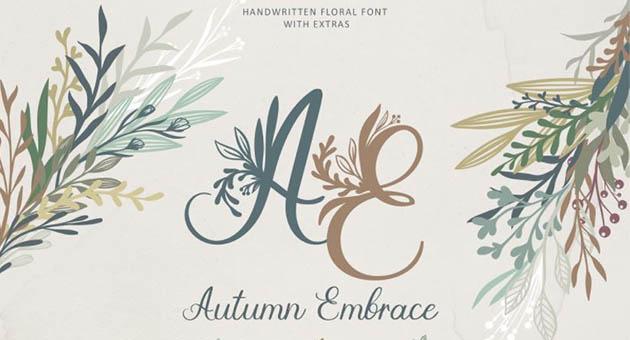 Nature And Plant Fonts Autumn Embrace