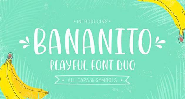 Nature And Plant Fonts Bananito
