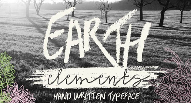 Nature And Plant Fonts Earth Elements
