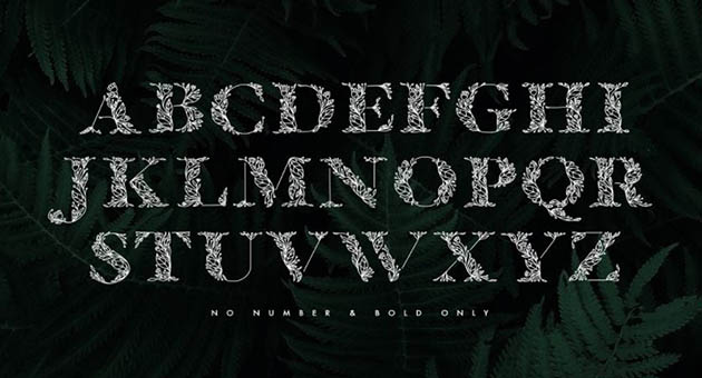 Nature And Plant Fonts Flola