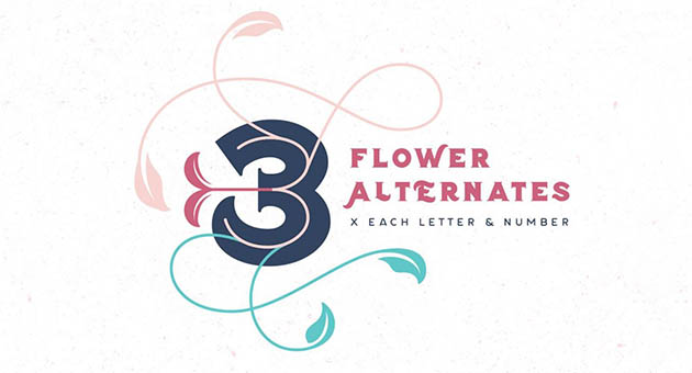 Nature And Plant Fonts Flor
