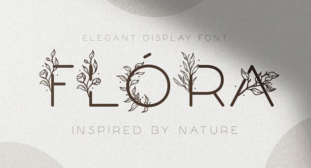 Nature And Plant Fonts Flora