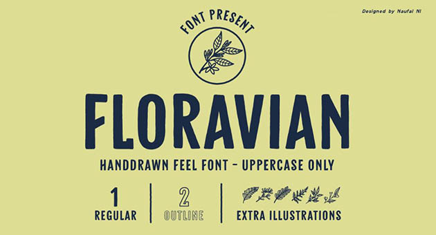 Nature And Plant Fonts Floravian