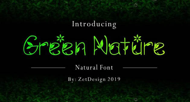 Nature And Plant Fonts Green Nature