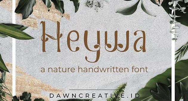 Nature And Plant Fonts Heywa
