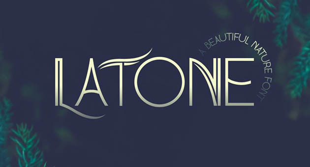 Nature And Plant Fonts Latone