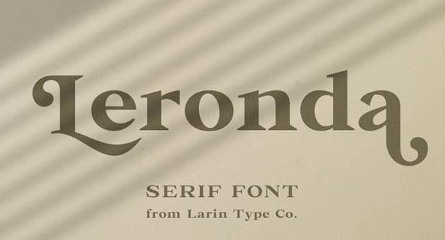 Nature And Plant Fonts Leronda