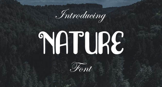 Nature And Plant Fonts Nature