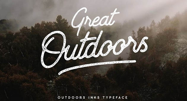 Nature And Plant Fonts Outdoor Inks