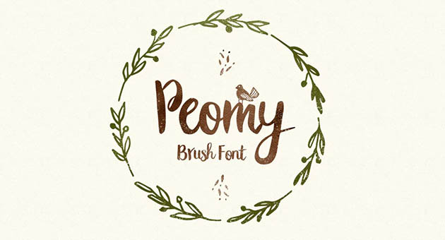 Nature And Plant Fonts Peomy